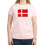 Denmark Danish Flag Women's Pink T-Shirt