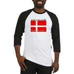 Denmark Danish Flag Baseball Jersey