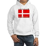 Denmark Danish Flag Hooded Sweatshirt