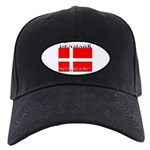 Denmark Danish Flag Black Cap