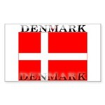 Denmark Danish Flag Rectangle Sticker
