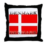 Denmark Danish Flag Throw Pillow