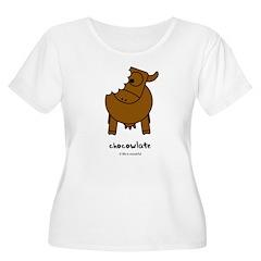 chocowlate Women's Plus Size Scoop Neck T-Shirt
