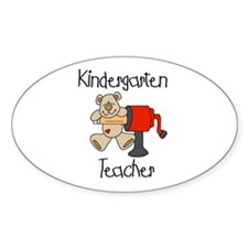 Kindergarten Teacher Oval Sticker (10 pk)
