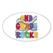 Bright Colors 2nd Grade Oval Sticker (10 pk)