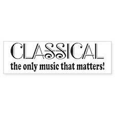 Classical Music Bumper Sticker