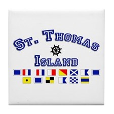 St. Thomas Island Tile Coaster