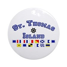 St. Thomas Island Ornament (Round)