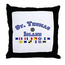St. Thomas Island Throw Pillow