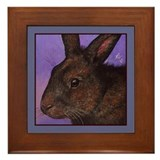 Brown Bunny Framed Tile