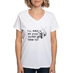 Make My Own Roads Women's V-Neck T-Shirt