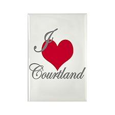 I love (heart) Courtland Rectangle Magnet