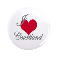 "I love (heart) Courtland 3.5"" Button"
