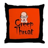 Karl Rove Creep Throat Throw Pillow