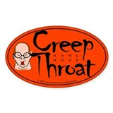 Karl Rove Creep Throat Oval Decal