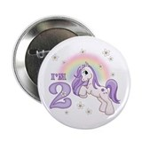 "Pretty Pony 2nd Birthday 2.25"" Button (10 pack)"