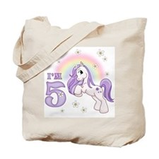 Pretty Pony 5th Birthday Tote Bag