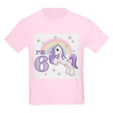 Pretty Pony 6th Birthday T-Shirt