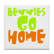 Cute Bennys go home Tile Coaster