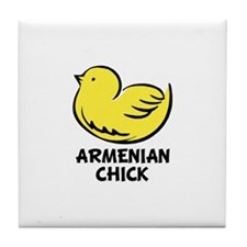 Armenian Chick Tile Coaster
