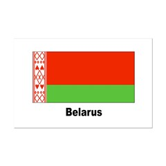 Belarus Flag Mini Poster Print