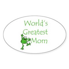 Greatest Mom Oval Sticker (10 pk)