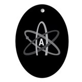 ATHEIST SYMBOL Oval Ornament