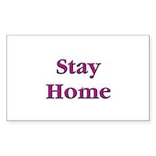Stay Home Euchre Rectangle Sticker 50 pk)