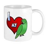 Love Indian Ringneck Parakeet Mug