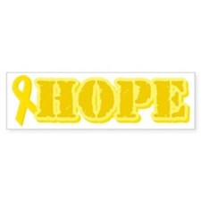 Hope Yellow ribbon Bumper Car Sticker