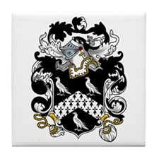 Jervis Family Crest Tile Coaster