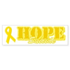 Hope Yellow ribbon Bumper Sticker (10 pk)