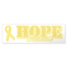 Hope Yellow ribbon Bumper Sticker (50 pk)
