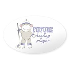 Future Hockey Player Oval Decal
