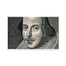 Wm Shakespeare Rectangle Magnet