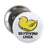 "Skydiving Chick 2.25"" Button (10 pack)"