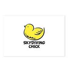 Skydiving Chick Postcards (Package of 8)