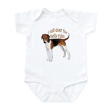 American foxhound belly rub Infant Bodysuit