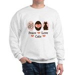 Peace Love Cats Kitty Cat Sweatshirt