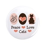 Peace Love Cats Kitty Cat 3.5