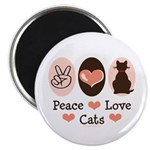 Peace Love Cats Kitty Cat 2.25