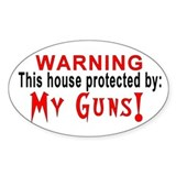 Protected By: Oval Sticker (10 pk)