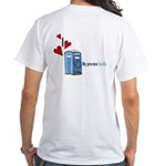 I Heart Porta-Potty White T-Shirt