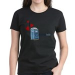 I Heart Porta-Potty Women's Dark T-Shirt