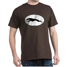 Greyhound Running Oval T-Shirt