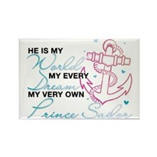 My Very Own Prince Sailor Rectangle Magnet