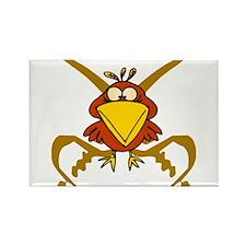 Pirate Bird Rectangle Magnet