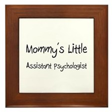 Mommy's Little Assistant Psychologist Framed Tile