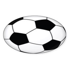 SOCCER Ball Euro Oval Decal