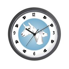 Saanen Goat Wall Clock